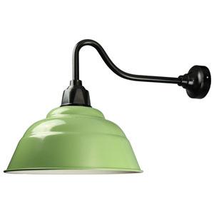 Retropolitan Aspen Green-Black One-Light Outdoor Wall Sconce