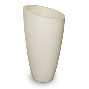Modesto 42in Tall Planter - Ivory