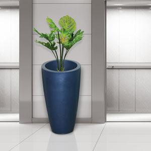 Modesto 42in Tall Planter - Neptune Blue