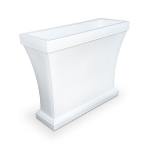 Bordeaux Trough Planter - White