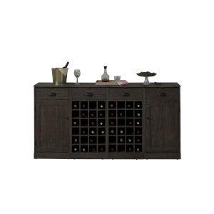 Valencia Black 72-Inch Wine Cabinet