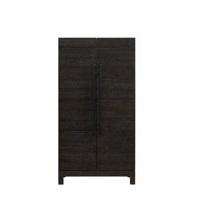 Capella Black Pine Veneer  Wine Cabinet