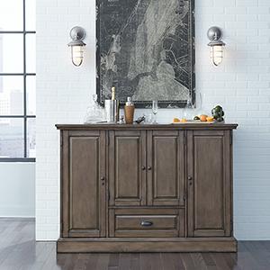 Carlotta Charcoal Wine Cabinet