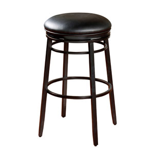 Black Silvano 26-Inch Bar Stool