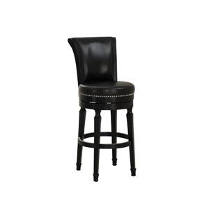 Chelsea Black Bar Height Stool in Black