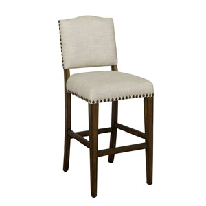 Worthington Coastal Grey Pub Height Stool- Set of Two