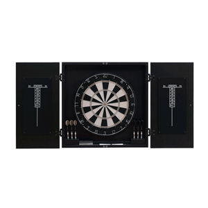 Vienna Black Dart Board Cabinet Set