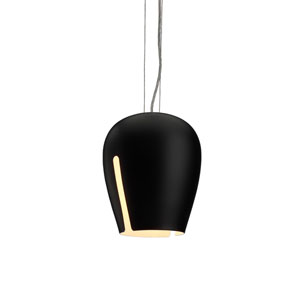 Zita 20 Black and White One-Light E26 Mini Pendant
