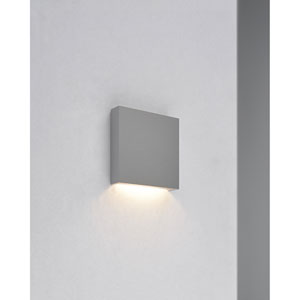 Q1 Matte Chrome 2-Inch LED 3000K Half Recessed J-Box Drive Included