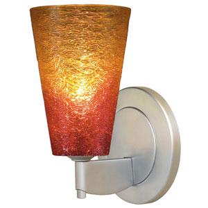 Bling II Matte Chrome Wall Sconce w/ Sunrise Glass