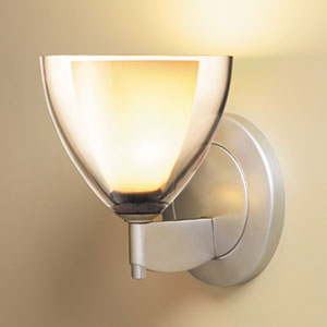 Rainbow II Matte Chrome One-Light Wall Sconce with Smoky Glass