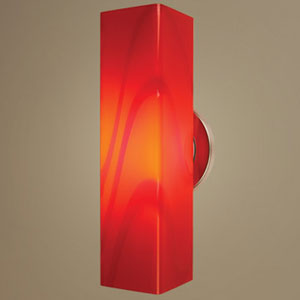Houston One-Light Wall Sconce with Red Glass