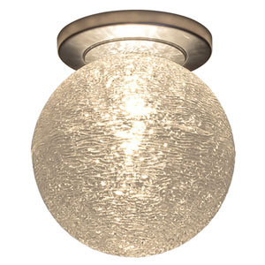 Dazzle Matte Chrome 6-Inch One-Light Flush Mount with Clear Glass
