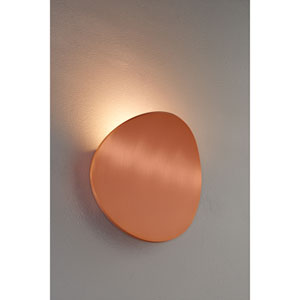 Lunaro Brushed Copper 8-Inch Wall Sconce