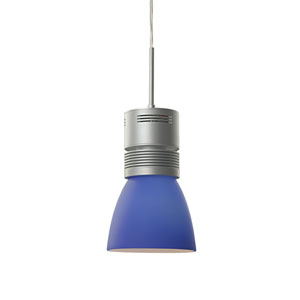 Z15 Matte Chrome 1100 Lumen LED Pendant with Blue Shade