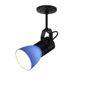 Z15 Black 1100 Lumen LED Spotlight with Blue Shade