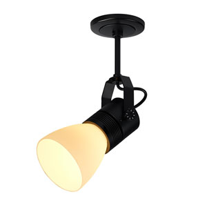 Z15 Black 1100 Lumen LED Spotlight with White Shade