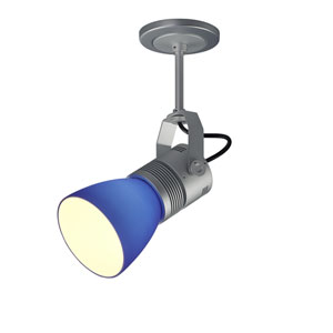 Z15 Matte Chrome 1100 Lumen LED Spotlight with Blue Shade