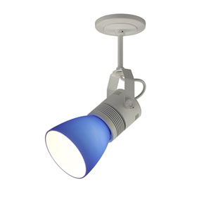 Z15 White 1100 Lumen LED Spotlight with Blue Shade