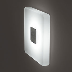 Ledra Ice Matte Chrome Square White LED Wall Sconce with J-box and Driver