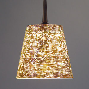 Bling I Bronze Mini Pendant with Silver Glass