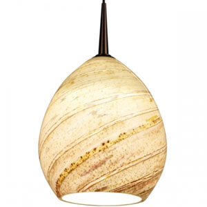 Vibe Down Bronze Uni Plug Pendant with Sea Shell Glass