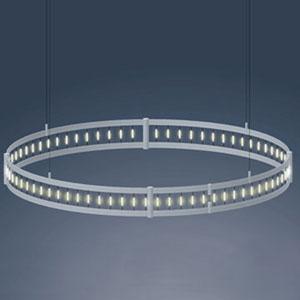 Shop diameter circular track lighting bellacor flight matte chrome 4 ft diameter track ring with clear festoon lamps aloadofball Gallery