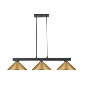 Cobalt Matte Black Three-Light Pendant