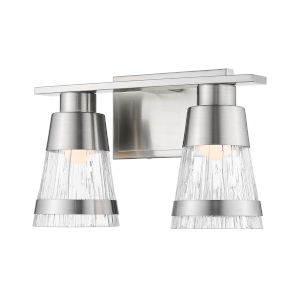 Ethos Brushed Nickel Two-Light LED Bath Vanity
