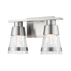 Ethos Brushed Nickel Two-Light LED Bath Vanity
