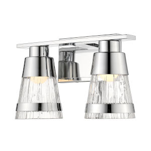 Ethos Chrome Two-Light LED Bath Vanity