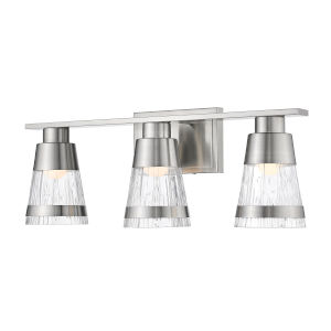 Ethos Brushed Nickel Three-Light LED Bath Vanity