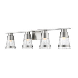 Ethos Brushed Nickel Four-Light LED Bath Vanity