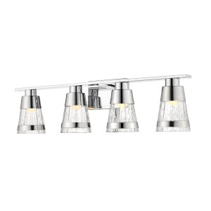 Ethos Chrome Four-Light LED Bath Vanity