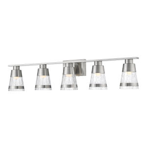 Ethos Brushed Nickel Five-Light LED Bath Vanity