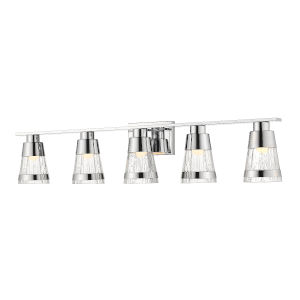 Ethos Chrome Five-Light LED Bath Vanity