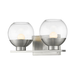 Osono Brushed Nickel Two-Light LED Bath Vanity