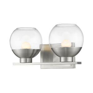 Osono Brushed Nickel Two-Light LED Bath Vanity