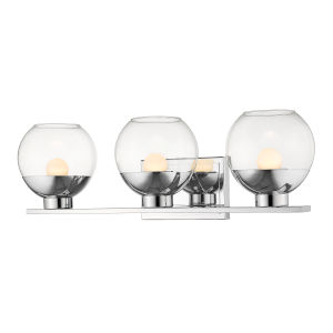 Osono Chrome Three-Light LED Bath Vanity