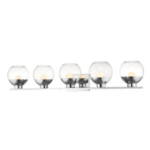 Osono Chrome Five-Light LED Bath Vanity