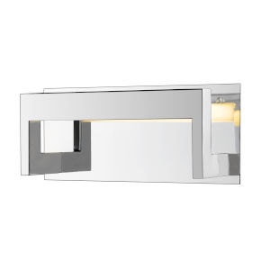 Linc Chrome LED Bath Vanity with Frosted Glass