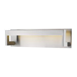 Linc Brushed Nickel 20-Inch LED Bath Vanity with Frosted Glass