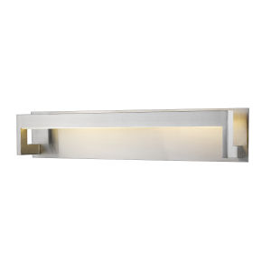 Linc Brushed Nickel 26-Inch LED Bath Vanity with Frosted Glass