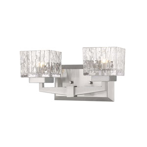 Rubicon Brushed Nickel Two-Light Bath Vanity