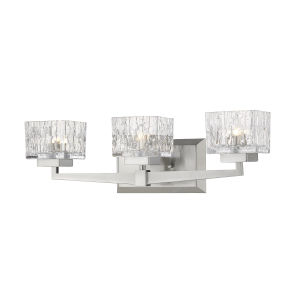 Rubicon Brushed Nickel Three-Light LED Bath Vanity