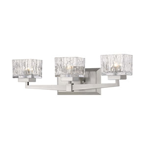 Rubicon Brushed Nickel Three-Light Bath Vanity