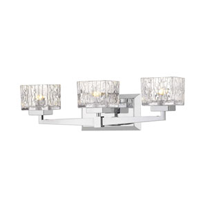 Rubicon Chrome Three-Light Bath Vanity