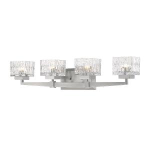 Rubicon Brushed Nickel Four-Light LED Bath Vanity