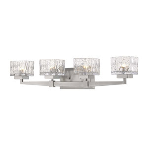 Rubicon Brushed Nickel Four-Light Bath Vanity