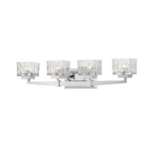 Rubicon Chrome Four-Light LED Bath Vanity
